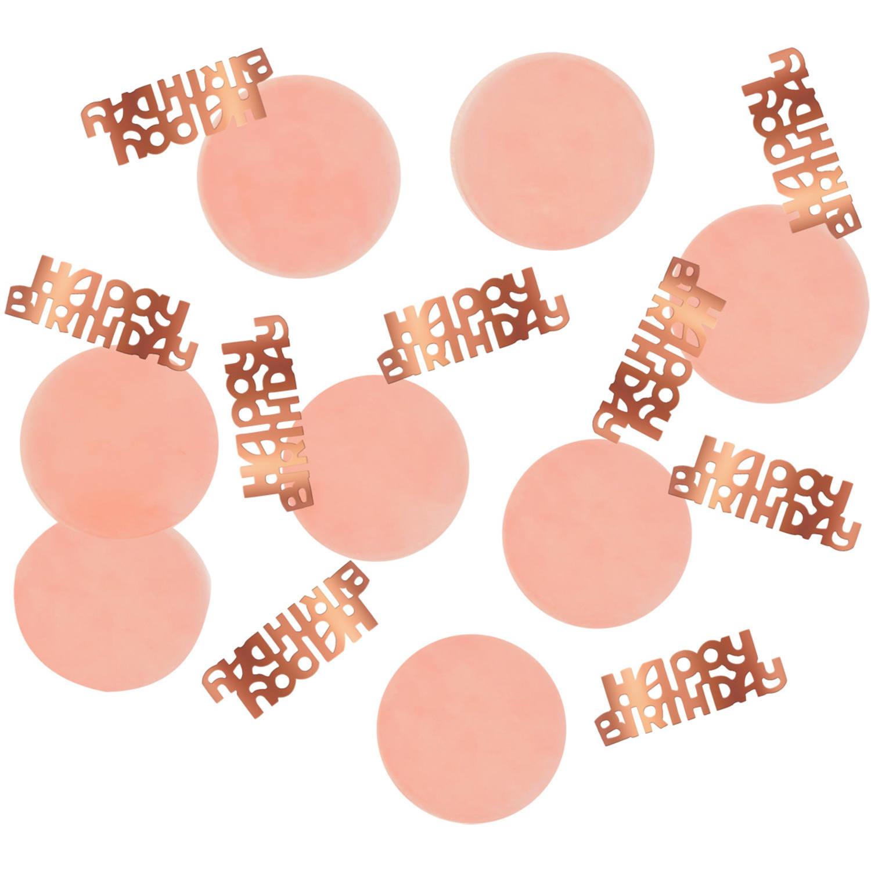 Happy Birthday Tafelconfetti| Rosé/ Roze Elegant