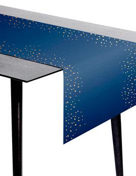 Tafelloper | Goud/Blauw Elegant