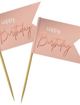 Prikkertjes Happy Birthday | Rosé/Roze Elegant