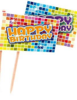 Prikkertjes Happy Birthday | Disco Multicolor