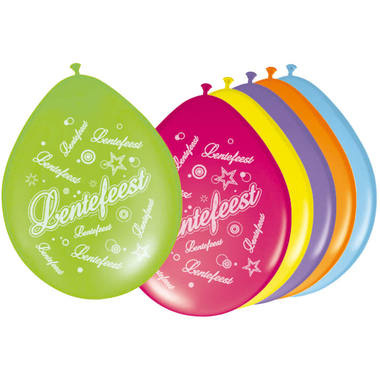 Ballonnen Lentefeest| Multicolor | 8 Stuks