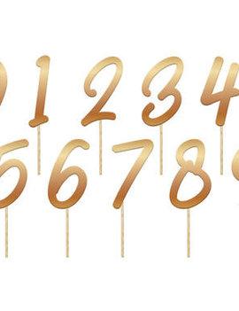 Taarttoppers/prikkertjes | Cijfers Goud