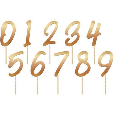 Taarttoppers/prikkertjes   Cijfers Goud