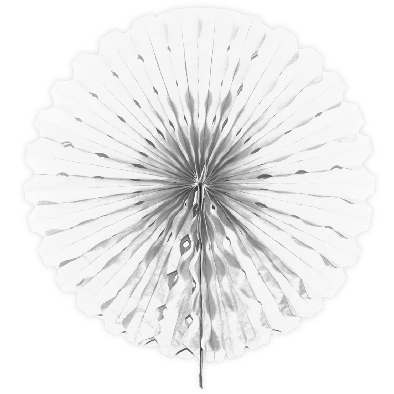 Honeycomb Waaier | Wit 45cm