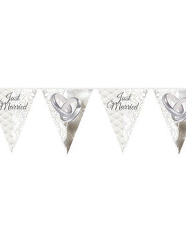 Vlaggenlijn Just Married | Huwelijk/Bruiloft