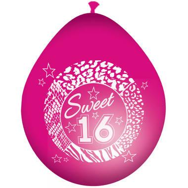 Sweet 16 Sixteen   Ballonnen  8 Stuks
