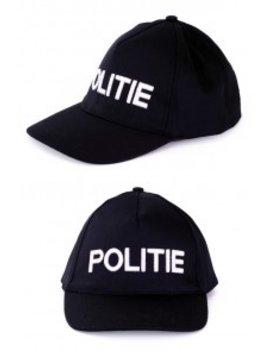 Politie Petje | Politiepet Zwart