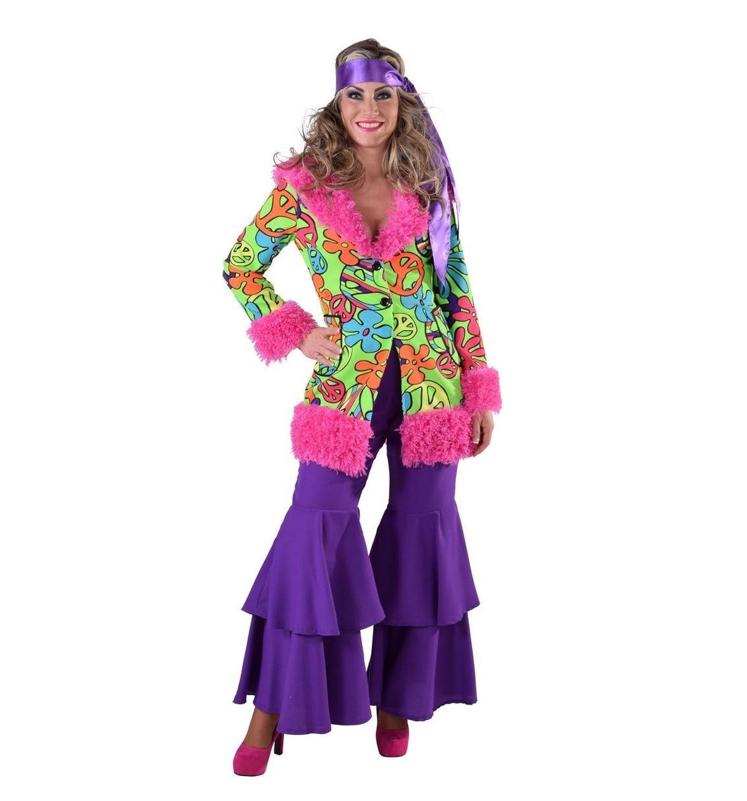Hippie Jas/ Jacket Bont   Dameskostuum