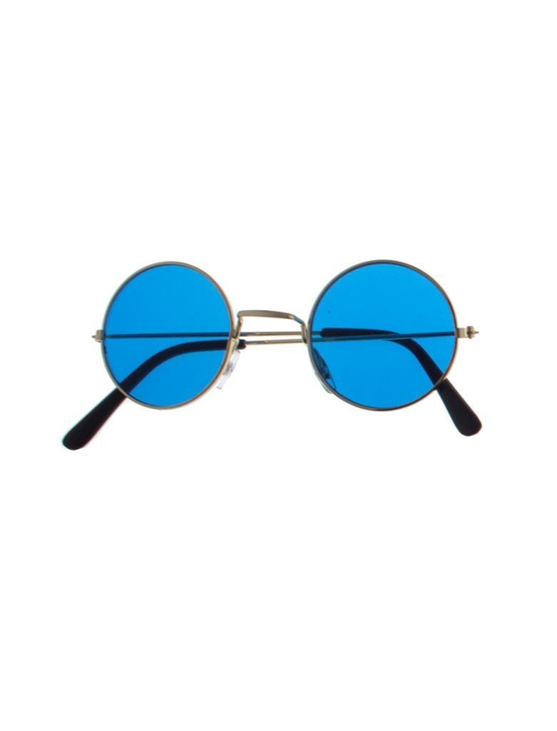 Hippie Bril | Flower Power Glasses Blauw