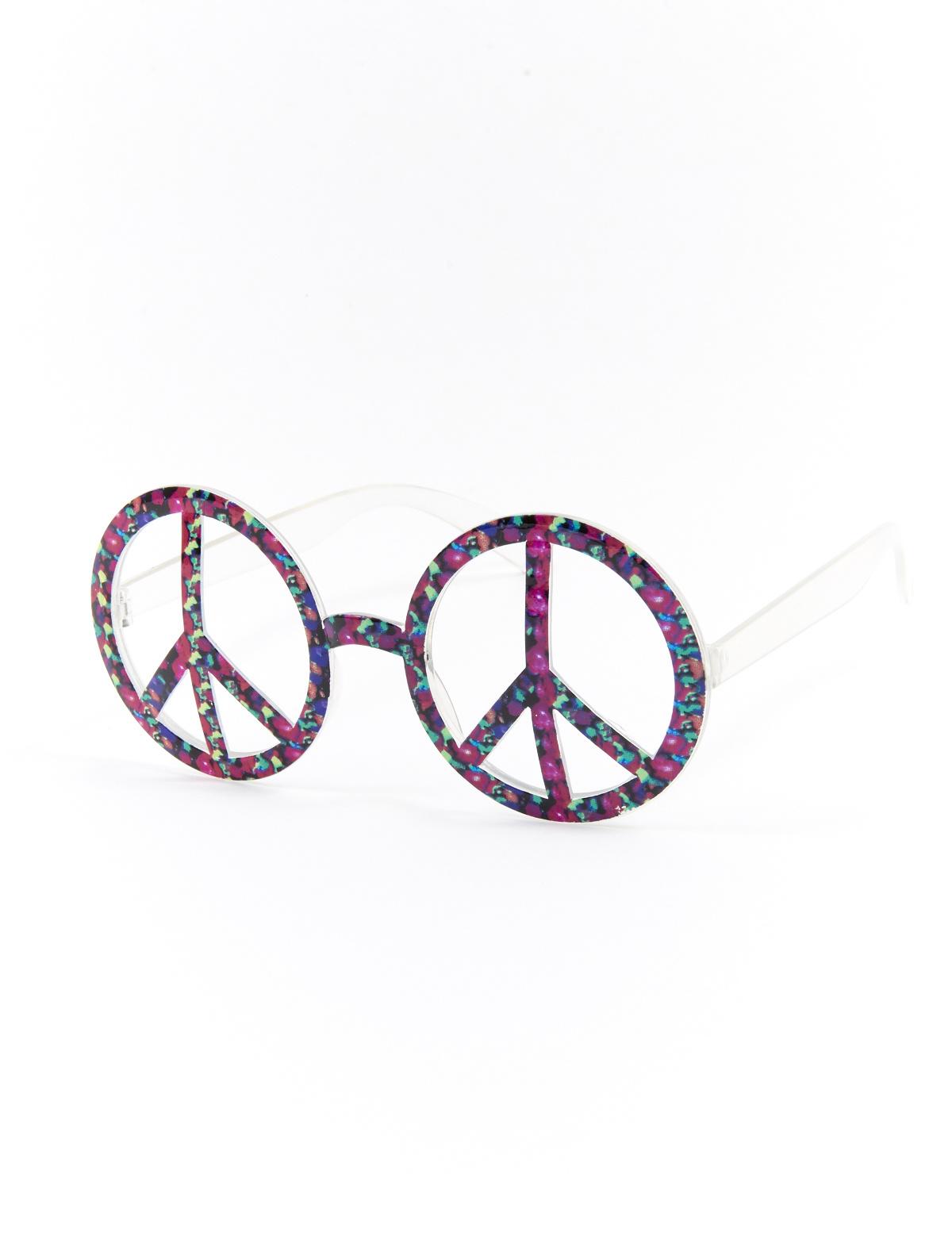 Hippie Peace Bril   Zonder Glas