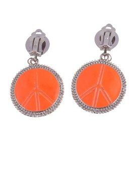 Peace Oorbellen Oranje Fluo | Hippie