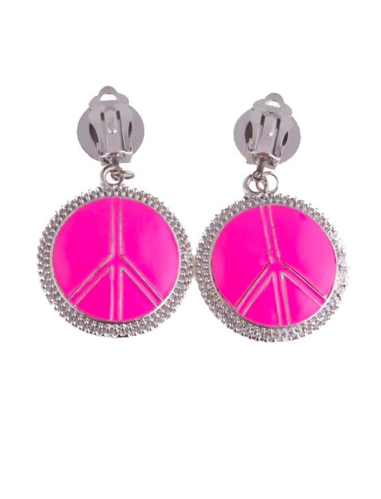 Peace Oorbellen Roze Fluo | Hippie
