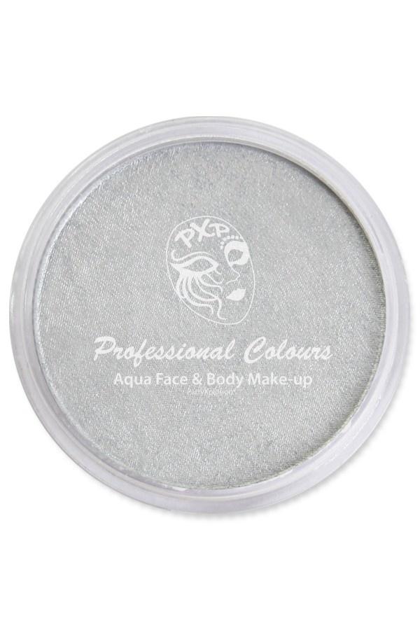 Aquaschmink Potje 30Gram   Pearl Zilver