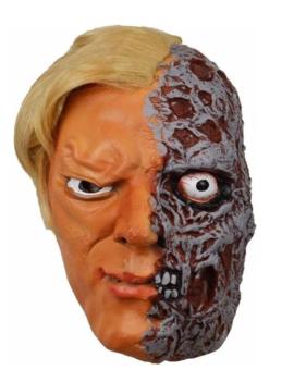 Half Verbrand Gezicht Masker   Halloween
