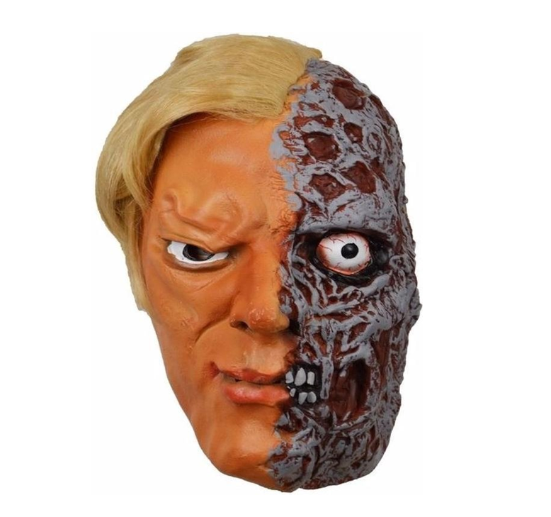 Half Verbrand Gezicht Masker | Halloween