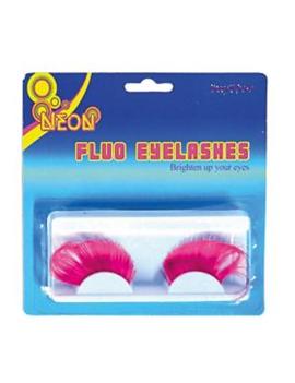 Wimpers Fluo Roze | 2 Stuks
