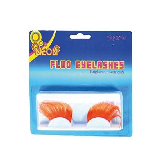 Wimpers Fluo Oranje | 2 Stuks