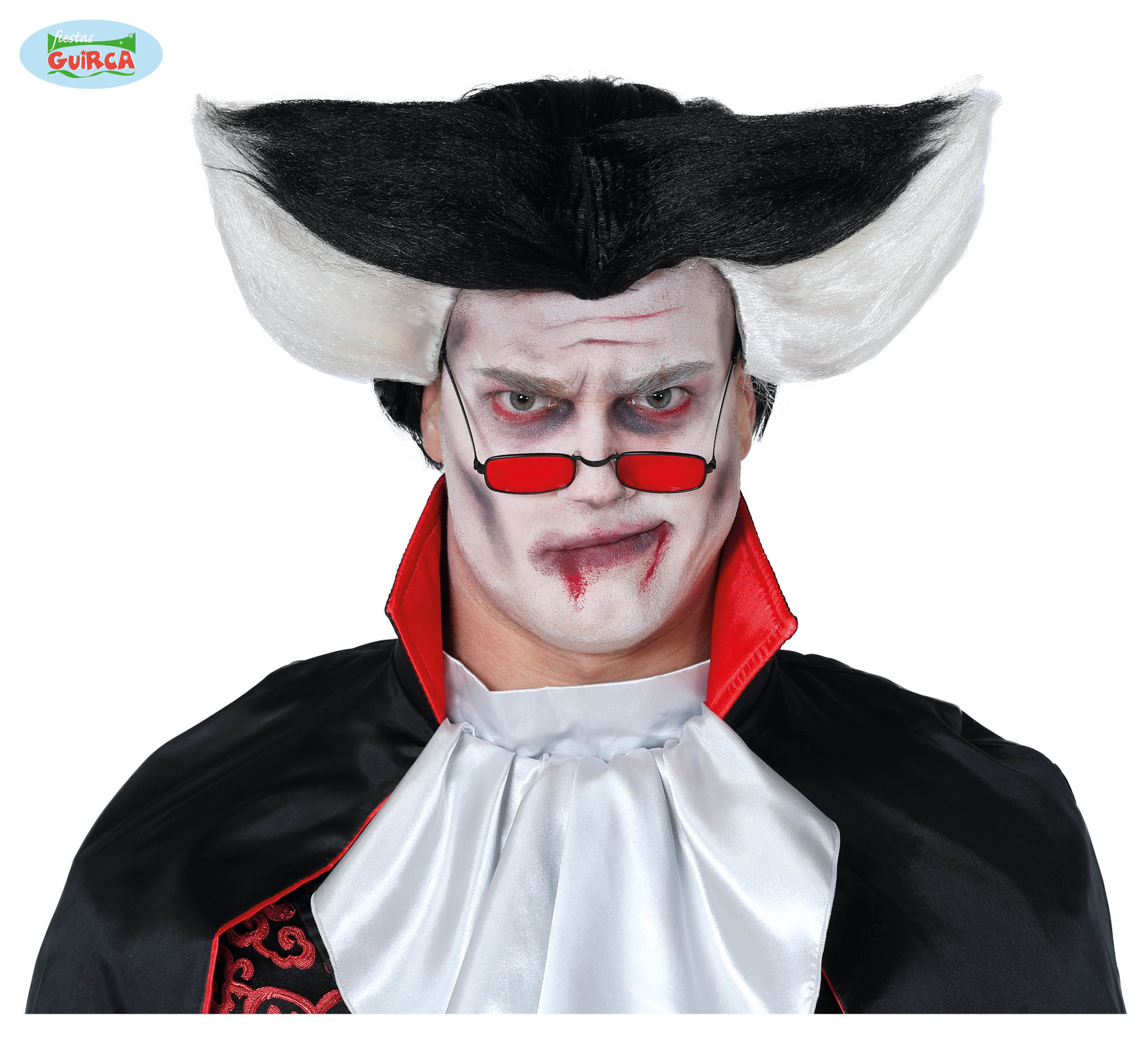 Pruik Vampier | Dracula Zwart & Wit