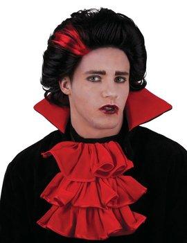 Pruik Vampier | Dracula Zwart / Rood