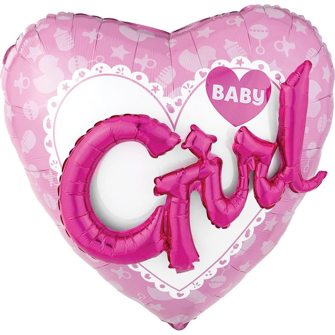 Folieballon Baby Girl | 3D Effect 36inch