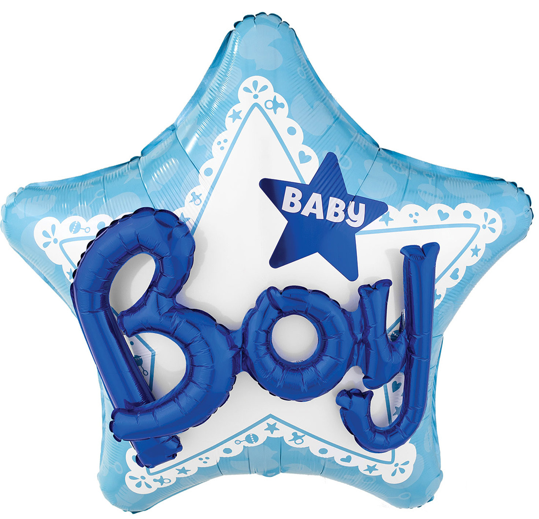 Folieballon Baby Boy | 3D Effect 32inch