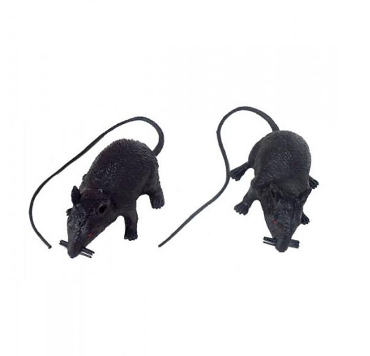 Nep Ratten Zwart | 2 Stuks