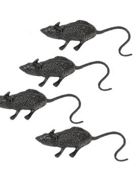 Nep Ratten Zwart | 8 Stuks