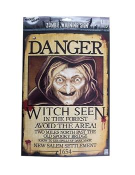 Heks Poster Gezocht| Danger Witch Poster