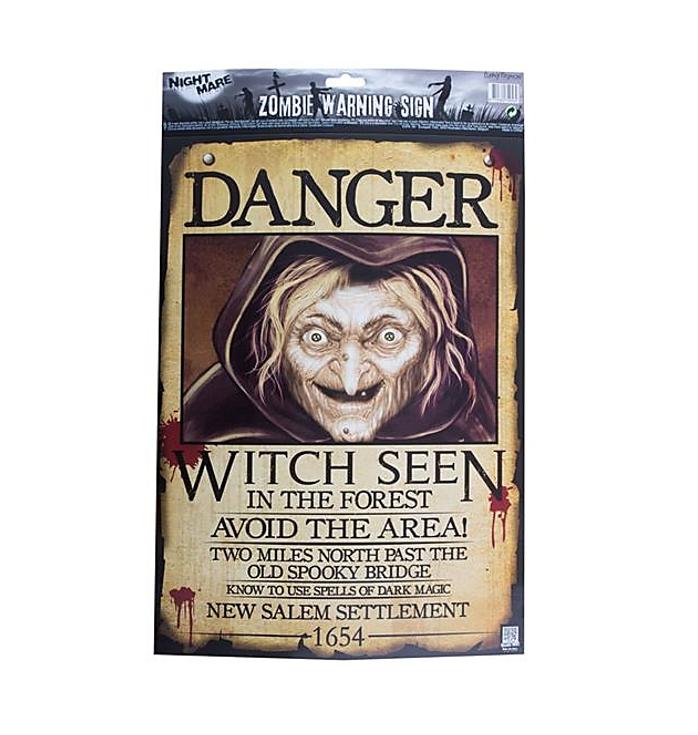 Heks Poster Gezocht | Danger Witch Poster