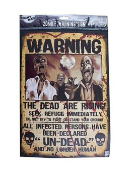 Opgepast Zombie Poster | Warning Zombie Poster