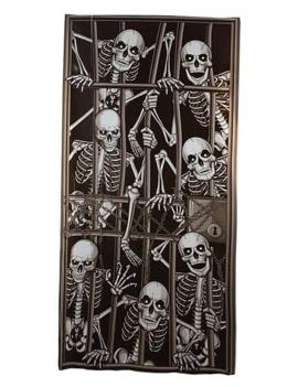 Deur Doek Skeletten Gevangenis| Door Cover Skelets
