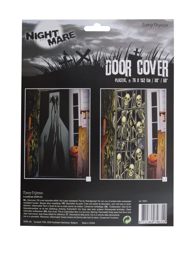 Deur Doek Zombie Uitbraak  Door Cover Zombie