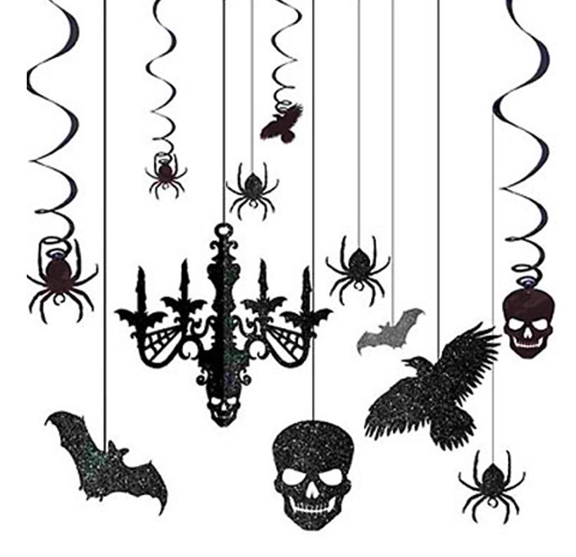 Halloween Decoratieset Glitter | Plafonddecoratie