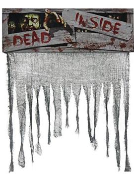 Deur Gordijn | Dead Inside | Zombies