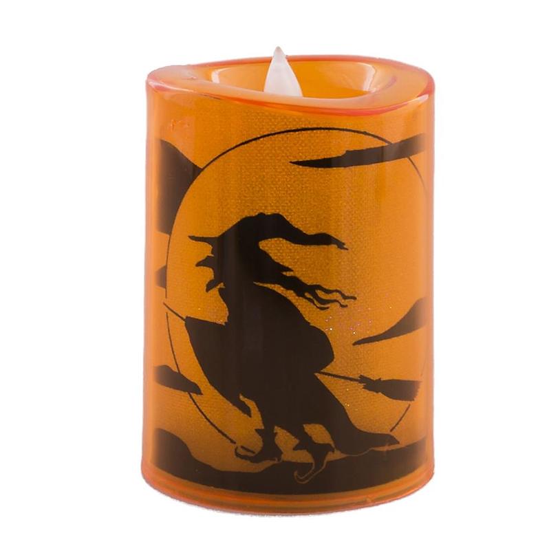 Halloween Kaars | Met Led Lichtje