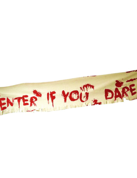 Banner Enter If You Dare | 180cm x 32cm