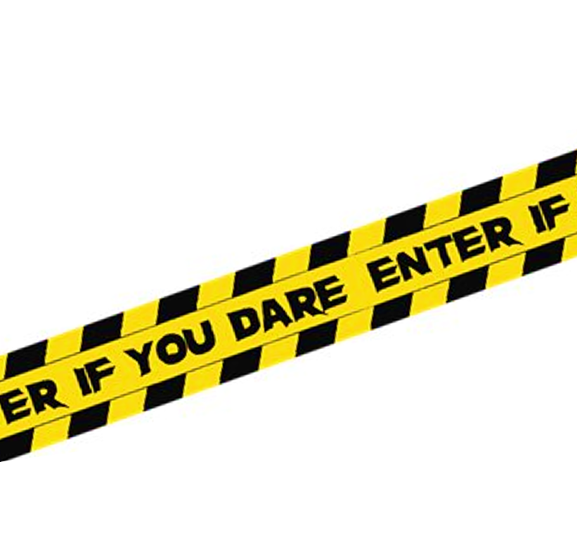 Enter If You Dare Tape | Partylint 6m