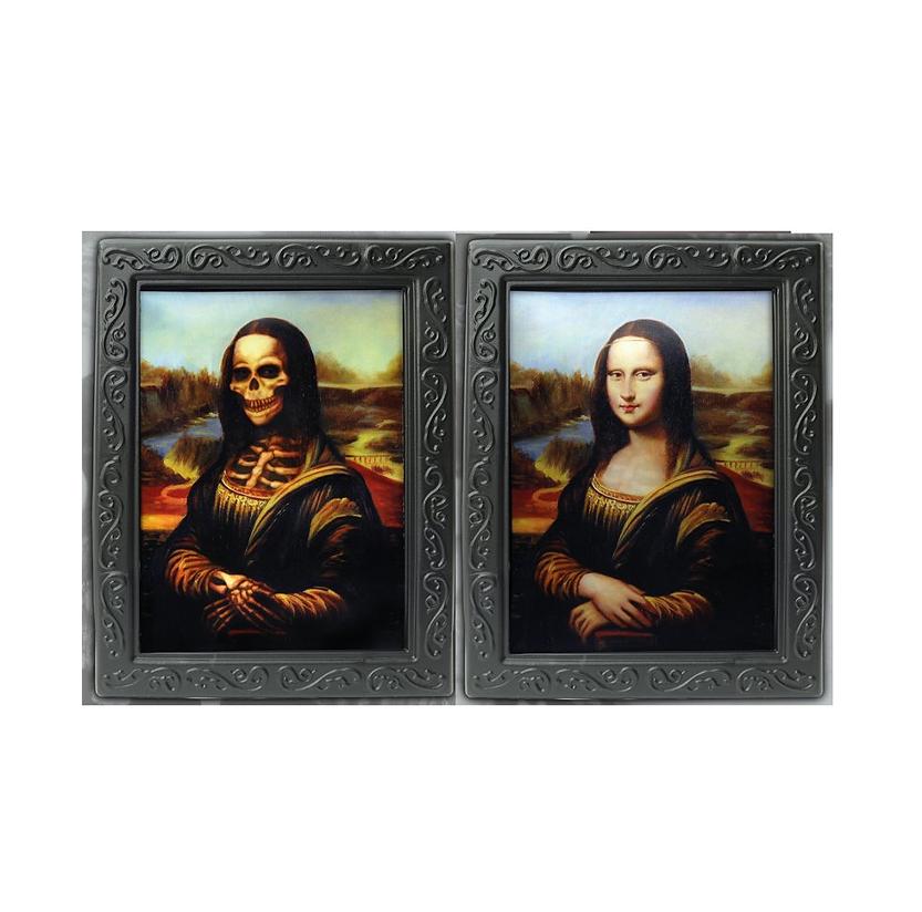 Mona Lisa Horror Schilderij | Halloween Portret