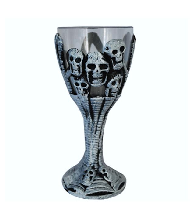 Halloween Beker Met Doodskoppen  | Horror Kelk
