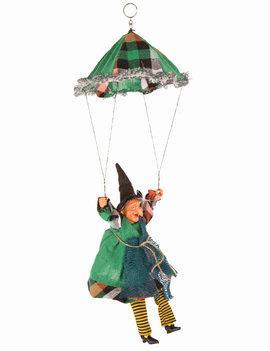 Heks Aan Parachute | Halloween Heks | Groen/Blauw