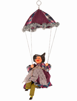 Heks Aan Parachute | Halloween Heks | Paars/Blauw