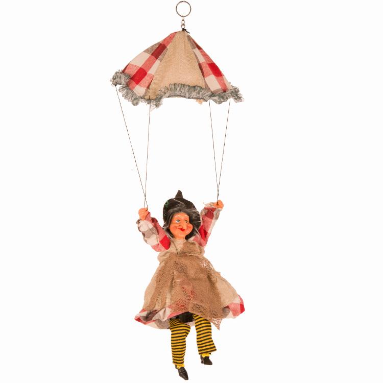 Heks Aan Parachute | Halloween Heks | Oranje/Rood