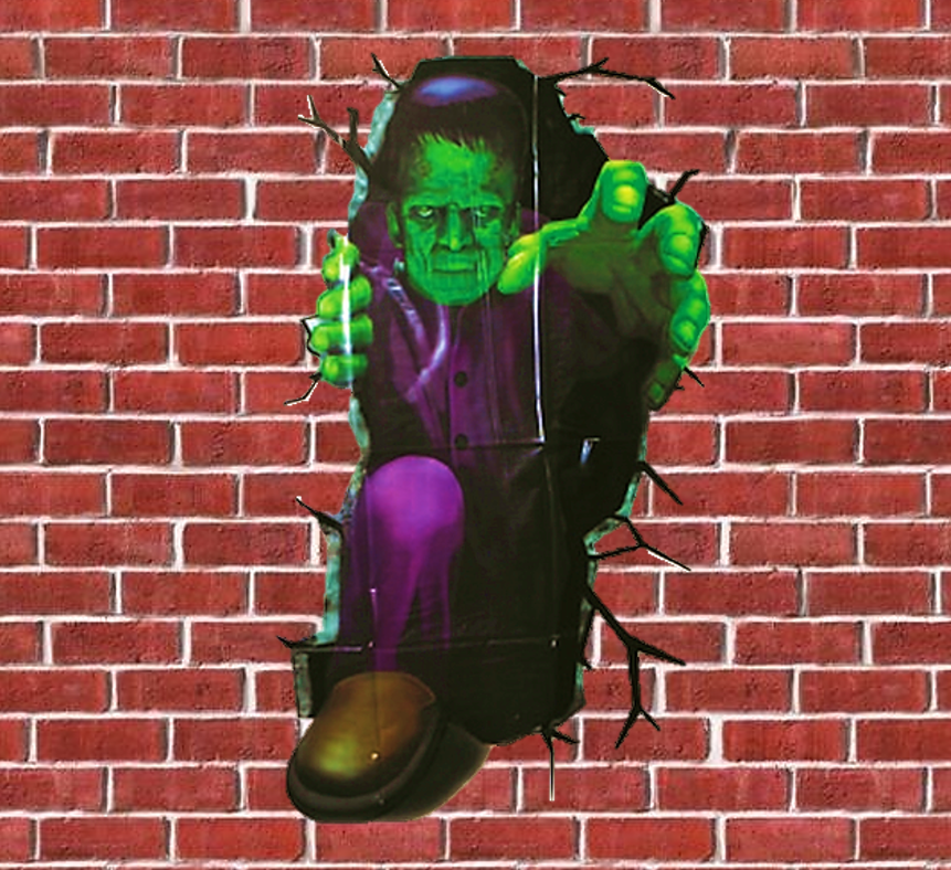 Muurfolie Monster   Wall Breaker Halloween