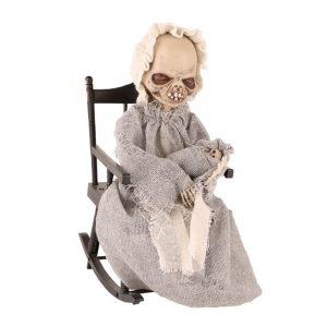 Skelet In Schommelstoel | Halloweendecoratie