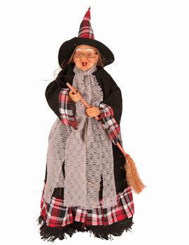Heks Staand 50cm | Halloweendecoratie | Rood