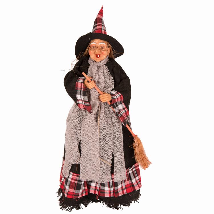 Heks Staand 50cm   Halloweendecoratie   Rood