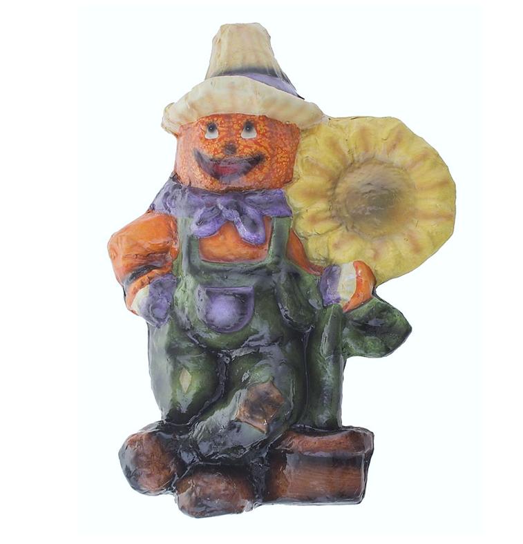 Pompoenman Met Zonnebloem | Halloweendecoratie