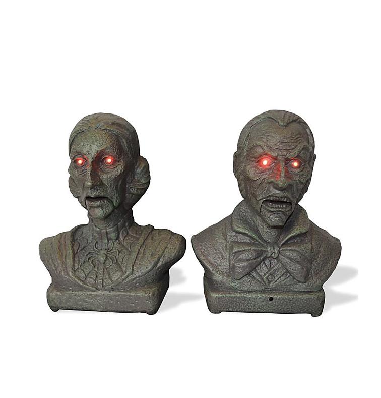 Pratende Bustes | Halloweendecoratie