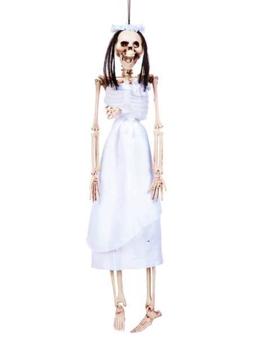 Skelet Bruid 42cm | Halloweendecoratie