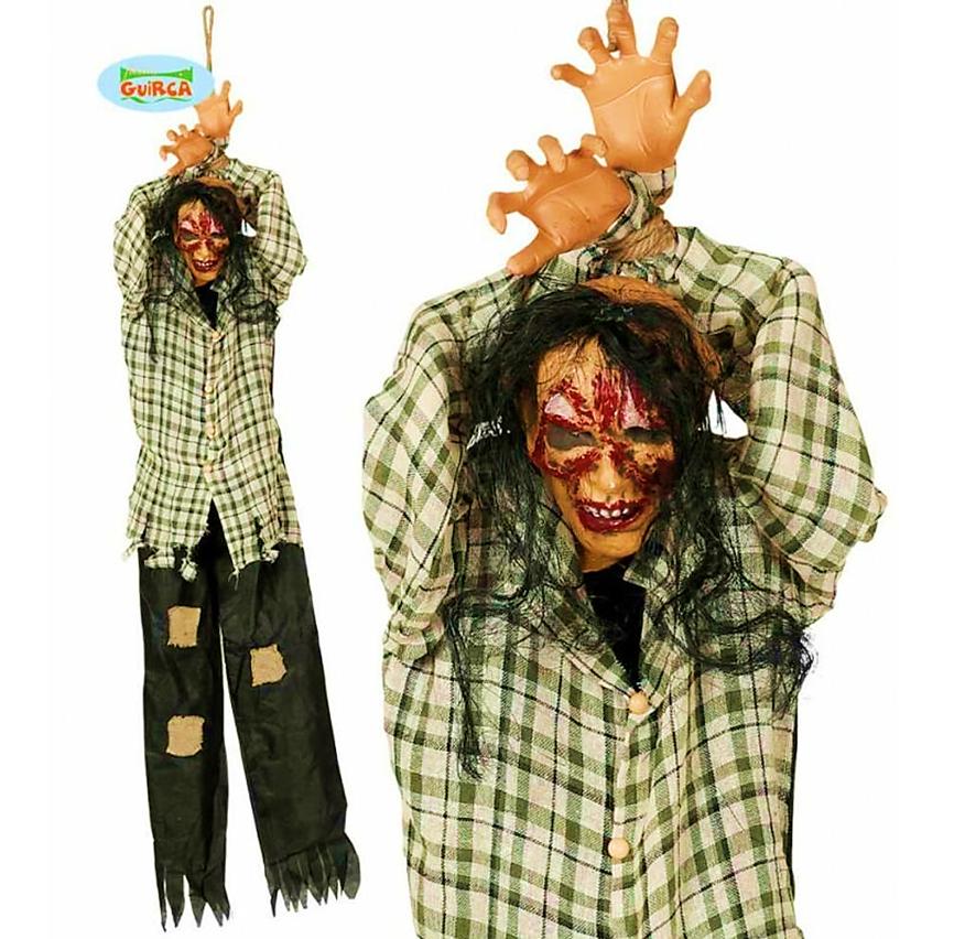 Hangende Zombie 200cm   Halloweendecoratie
